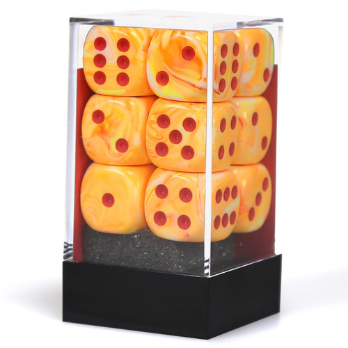 Dice and Gaming Accessories D6 Sets: Swirled - d6Cube16mm Festive Sunburst rd