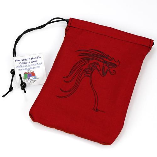 Dice and Gaming Accessories Dice Bags: Dice Bag: Black Tribal Dragon