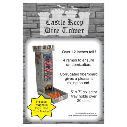 Dice and Gaming Accessories Dice Towers and Trays: Castle Keep RPG: Dice Tower with Magnetic Turn Tracker
