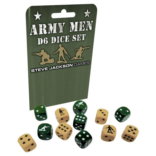 Dice and Gaming Accessories D6 Sets: Army Men D6 Set