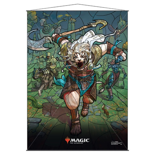 Other MTG Products: Ajani Stained Glass Wall Scroll
