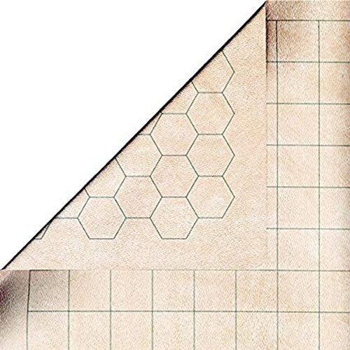 General Playmats and Tiles: Double-Sided Megamat With 1 Inch Squares/Hexes