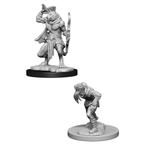RPG Miniatures: Nolzur's - D&D Marvelous Unpainted Minis: Wererat & Weretiger