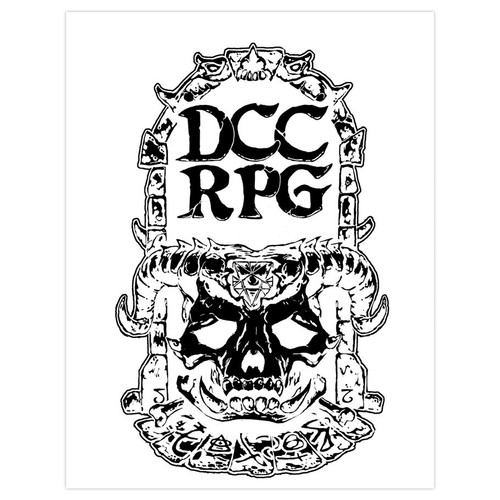 Dungeon Crawl Classics/GG: Dungeon Crawl Classics: Core Rulebook Demon Skull Silver Foil Ltd. Ed.
