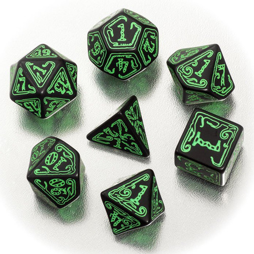 Dice and Gaming Accessories Game-Specific Dice Sets: Call of Cthulhu Dice Set Black/Green (7)
