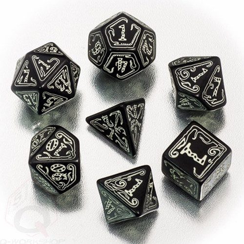 Dice and Gaming Accessories Game-Specific Dice Sets: Call of Cthulhu Dice Set Black/GlowNDark (7)