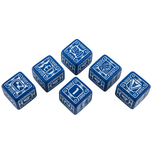 Dice and Gaming Accessories Game-Specific Dice Sets: Battletech House Steiner Dice Set (6)