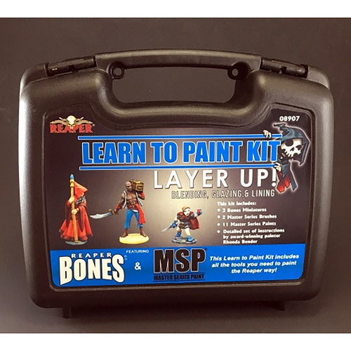 Paint: Reaper - Paint Sets and Kits Dark Heaven Bones: Learn to Paint Kit 2 - Layer Up! Base Coats, Layering, and Glazing