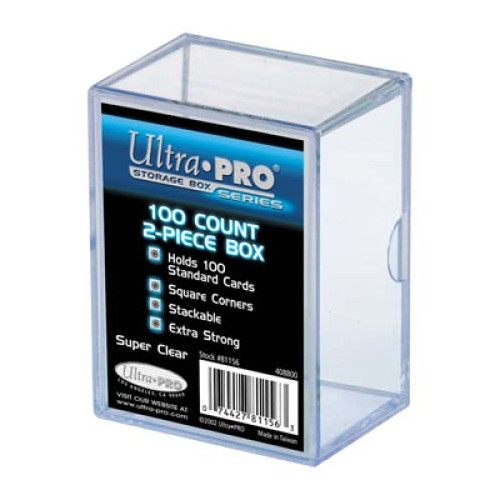 Card Boxes: 2 Piece 100 Count Clear Card Box