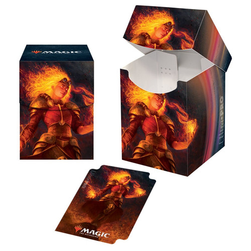 Deck Boxes: MTG Deck Boxes - M21 Chandra, Heart of Fire PRO 100+ Deck Box