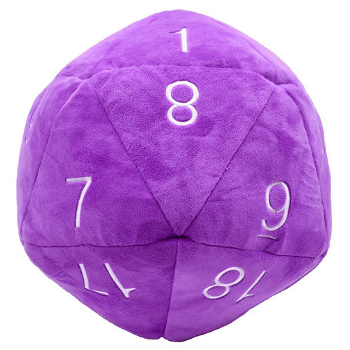 Dice and Gaming Accessories Other Gaming Accessories: Jumbo Plush D20: Purple/White