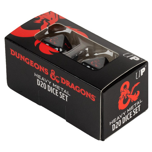 Dice and Gaming Accessories Game-Specific Dice Sets: Heavy Metal D20 Dice: Dungeons & Dragons (2)
