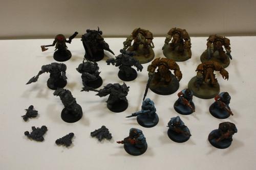 Warhammer 40k Chaos Space Marines Lot - Cultists, Lord Kranon, Terminators [U-B2S1 269929]
