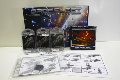 (Secondhand) Dropfleet Commander: Dropfleet Commander UCM Lot - Avalon, Battleship, Battlecruiser, Corvettes