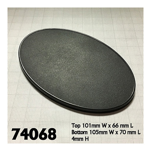 Basing Material and Textures: Base Boss: 105x70mm Oval Gaming Base (4)