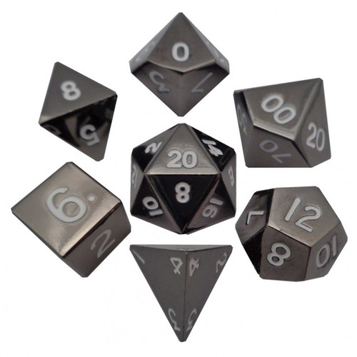 Dice and Gaming Accessories Polyhedral RPG Sets: 7-set: 16mm: Sterling GY Metal