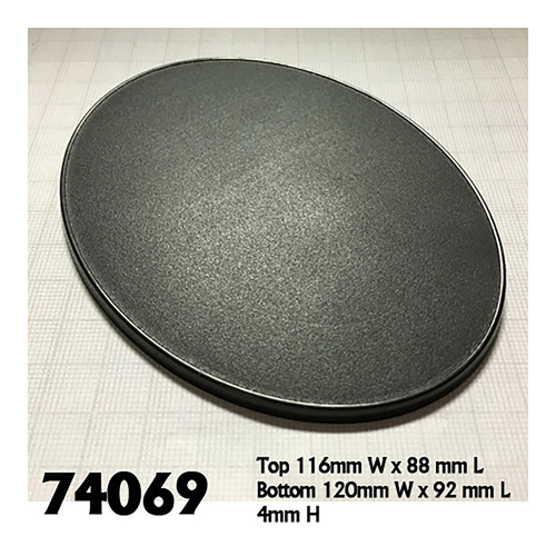 Basing Material and Textures: Base Boss: 120x92mm Oval Gaming Base (4)