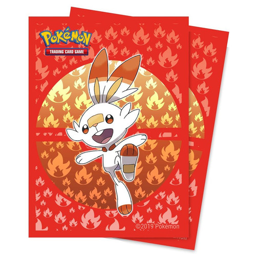Card Sleeves: Other Printed Sleeves - Pokemon Scorbunny Deck Protector Pack (65)