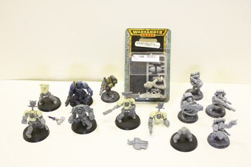 Warhammer 40k Space Wolf Lot - Long Fangs, Terminators, Marine w/ assault weapon [U-B5S3 270965]