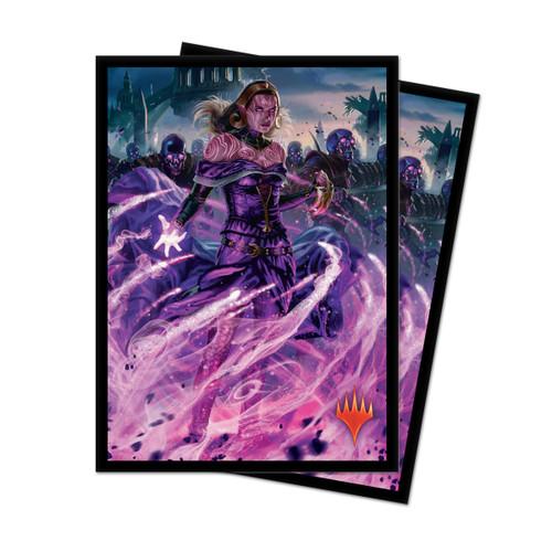 Card Sleeves: MTG Sleeves - Magic the Gathering: War of the Spark Deck Protectors - Liliana, Dreadhorde General (100)