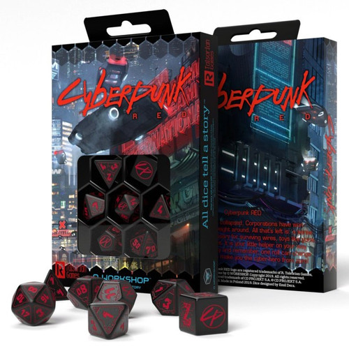 Dice and Gaming Accessories Polyhedral RPG Sets: Cyberpunk RPG Dice Set