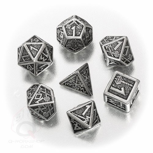 Dice and Gaming Accessories Polyhedral RPG Sets: Metal and Metallic - Dwarven Metal Dice Set (7)