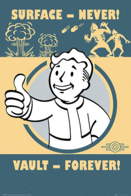 Posters: Fallout 4 - Surface Never Vault Forever