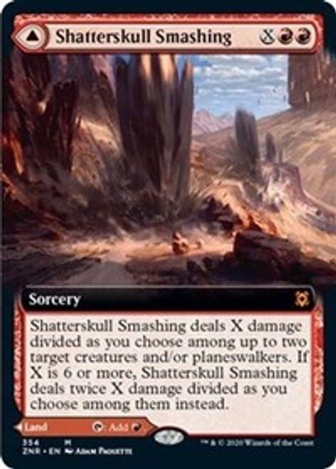 Shatterskull Smashing // Shatterskull, the Hammer Pass (Extended Art) [Foil] - Zendikar Rising