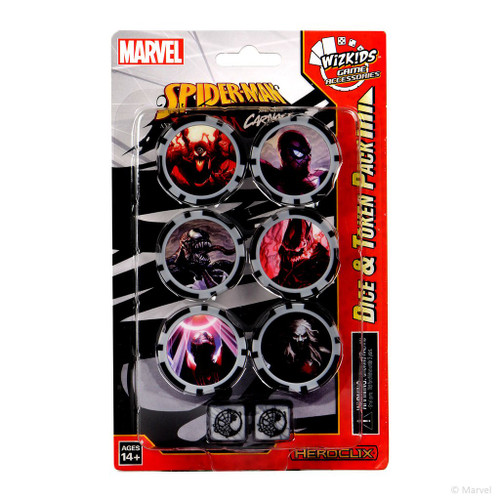 HeroClix: Marvel: Spider-Man And Venom Absolute Carnage Dice And Token Pack
