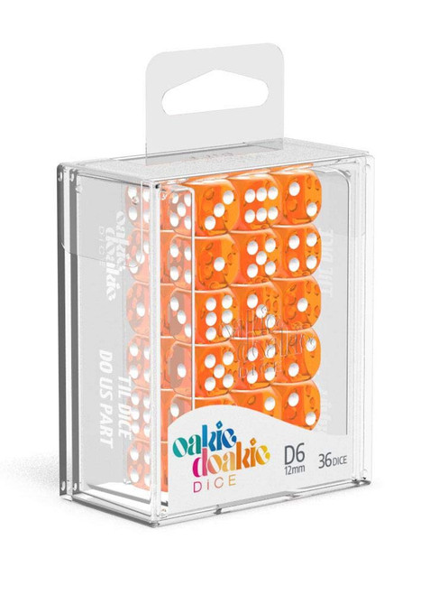 Dice and Gaming Accessories D6 Sets: 12mm D6 Set: Translucent Orange