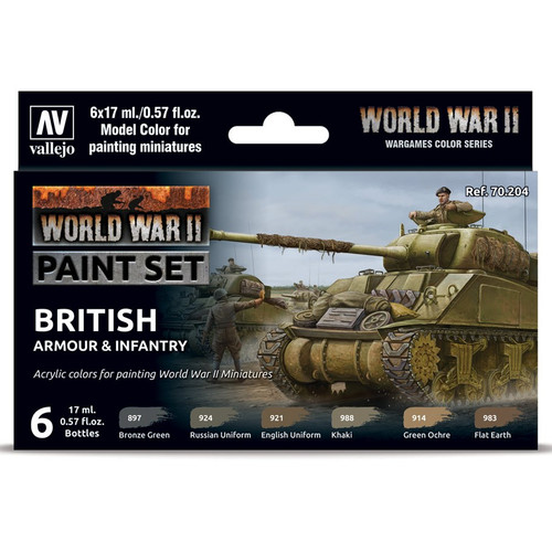 Paint: Vallejo - MC: WWII: Set: British Armour & Infantry