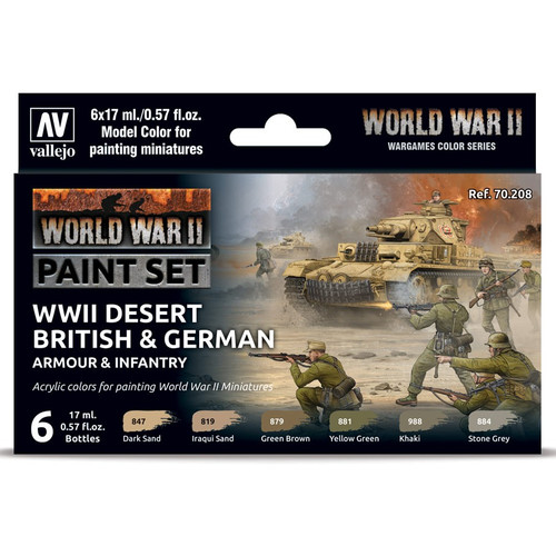 Paint: Vallejo - MC: WWII: Set: Desert, Armour, Infantry