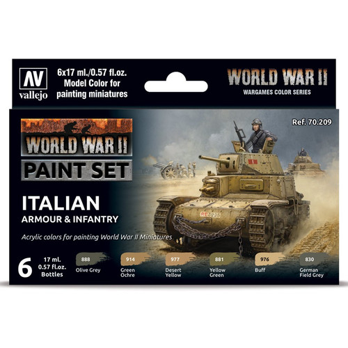 Paint: Vallejo - MC: WWII: Set: Italian Armour & Infantry