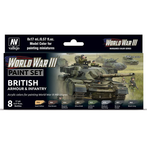 Paint: Vallejo - MC: WWIII: British Armour & Infantry