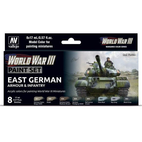 Paint: Vallejo - MC: WWIII: East German Armr & Infantry