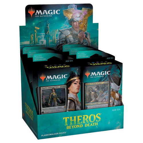 Magic The Gathering Sealed: Magic the Gathering CCG: Theros Beyond Death Planeswalker Deck Display (6)