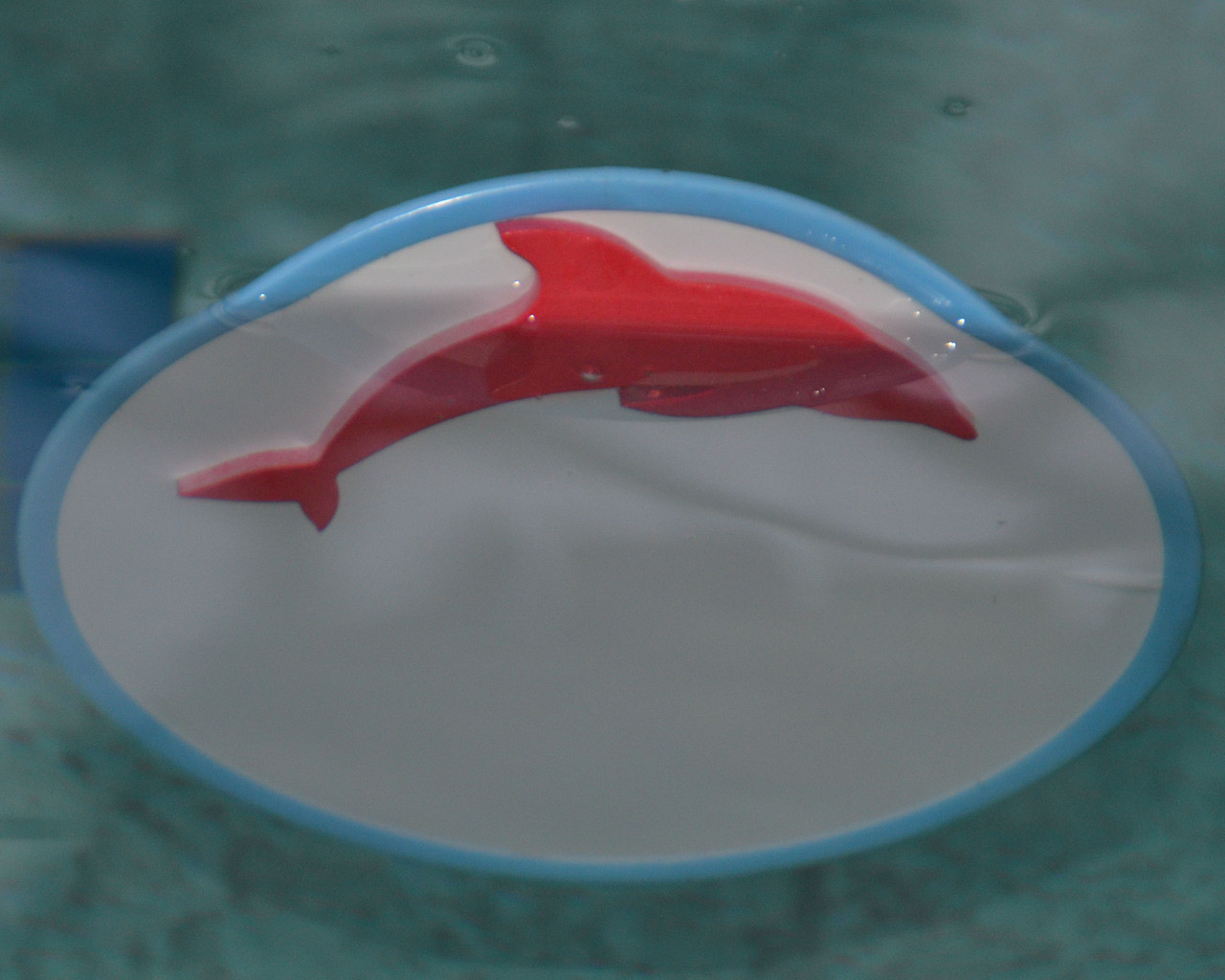 "CIRCULAR 9"" Fun Mirror™ Patented with FOAM FLOAT SEA ANIMAL STICKERS"