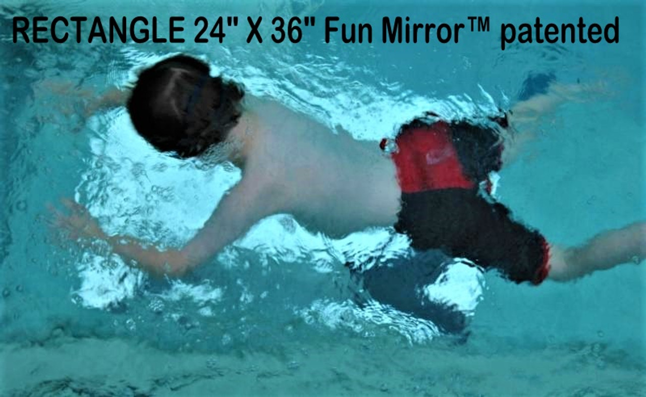 """RECTANGLE 24"""" X 36"""" DELUXE Acrylic (shatter-resistant) Fun Mirror™ patented"""