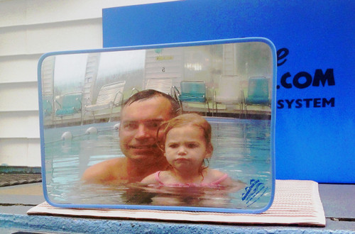 """RECTANGLE 12"""" X 18"""" poly-carbonate Fun Mirror™ w/ Frame- Patented"""