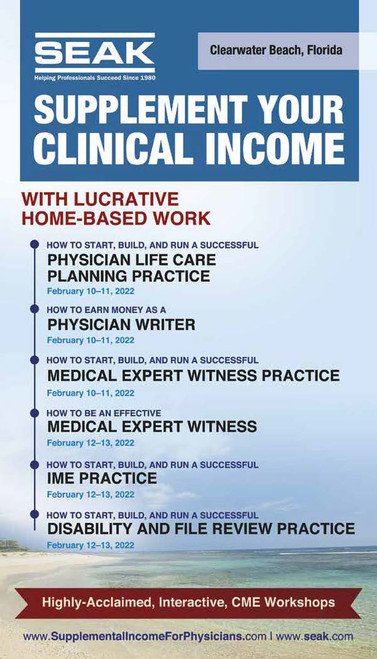 How to Earn Money as a Physician Writer, February 10-11, 2022, Clearwater Beach, FL
