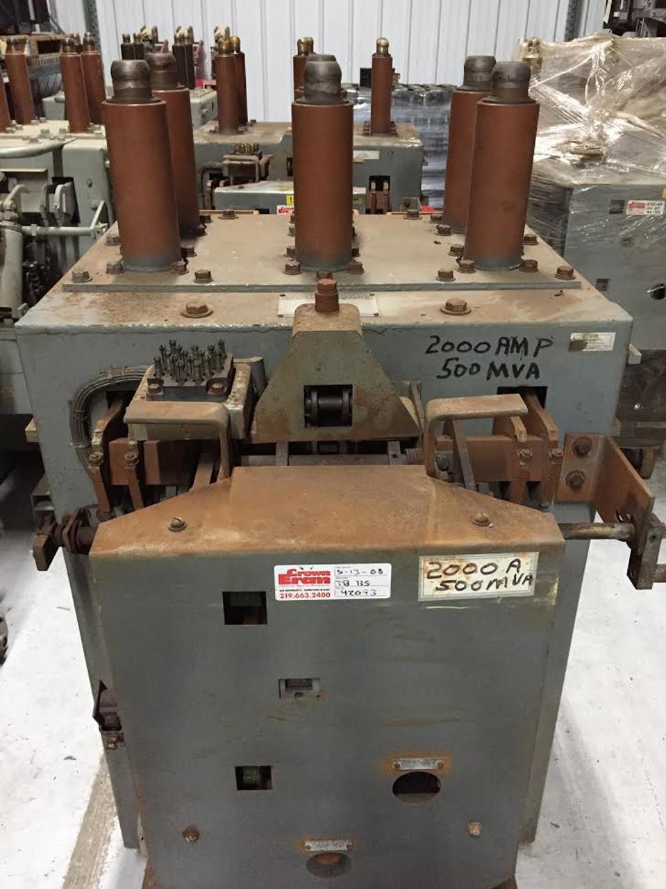 am 13 8 500 5h b ge magne blast 2000a 15kv air circuit breaker  am 13 8 500 5h b ge magne blast 2000a 15kv air circuit breaker bullock breakers
