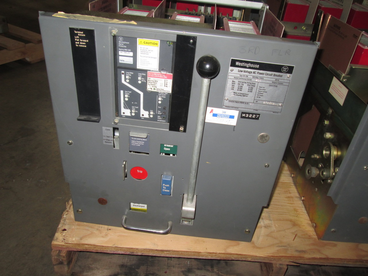 Ds 206 Westinghouse 800a Mo Do Lig W Digitrip Air Circuit Breaker Control Power For The S