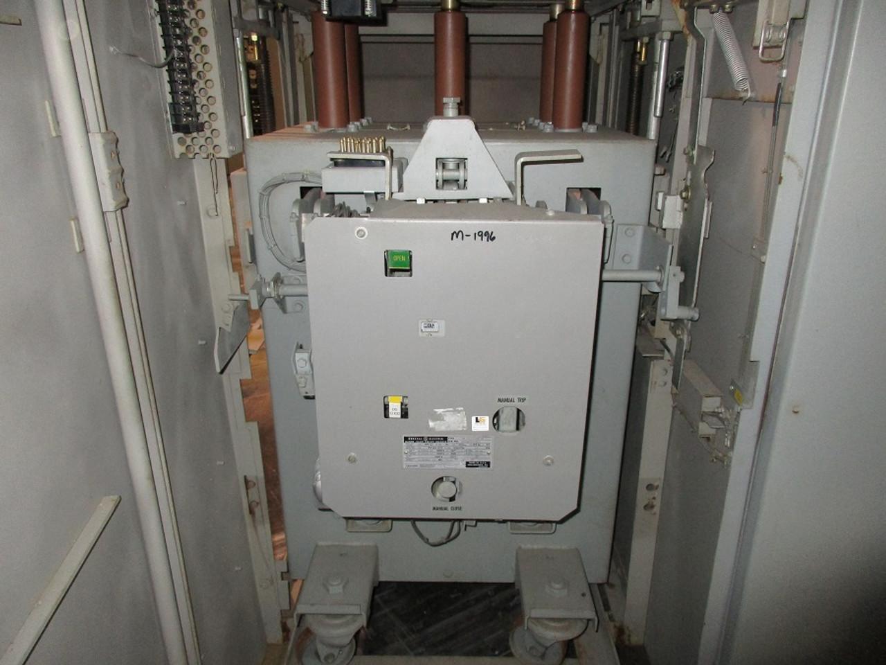 am 13 8 500 7h ge magne blast 1200a 15kv air circuit breaker (in  am 13 8 500 7h ge magne blast 1200a 15kv air circuit breaker (in structure) bullock breakers