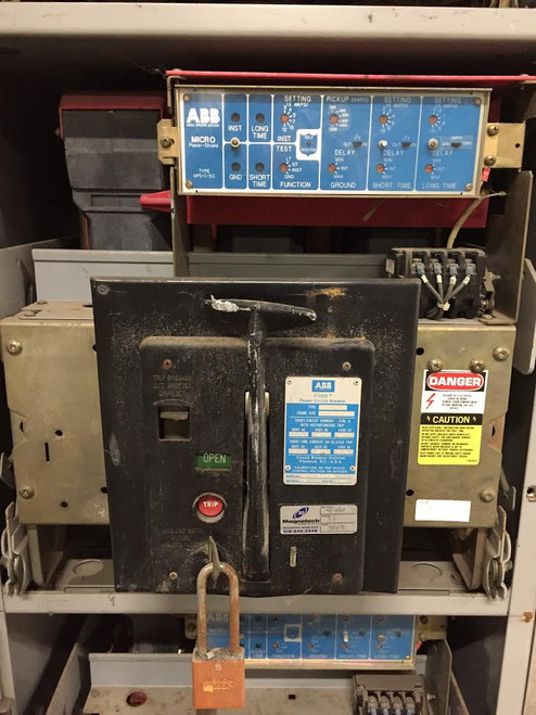 K-1600M ABB Red 1600A MO/DO LSIG Air Circuit Breaker