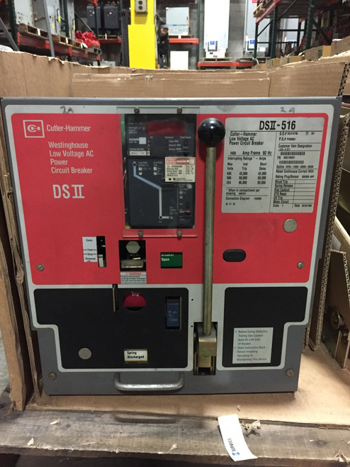 DSII-516 Cutler-Hammer 1600A MO/DO LI Air Circuit Breaker