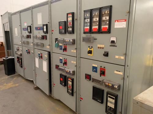 GE PowerVac 15KV 1200A Main W/Distribution Switchgear Lineup (#204)
