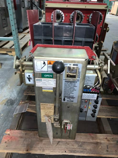 LA-800A Siemens-Allis 800A MO/DO LSI Air Circuit Breaker