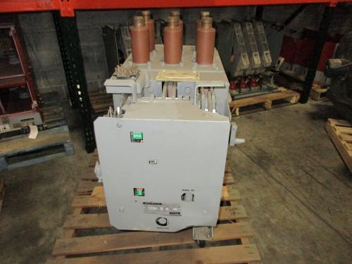 VVC-4.16-250-1H GE Magne-Blast 2000A 4.76KV Vacuum Breaker Conversion (Dented Back Panel & Side Board)