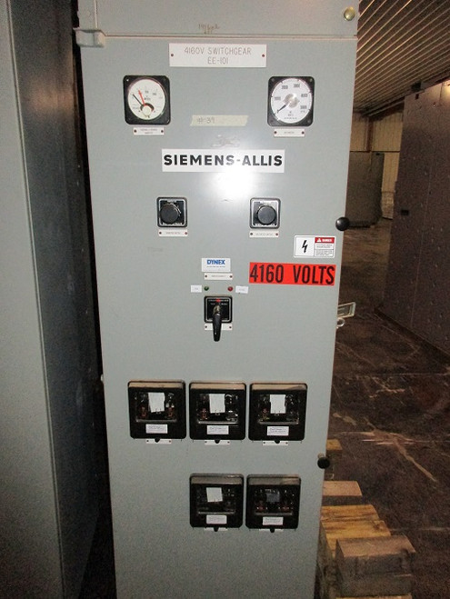 Siemens-Allis Type D Single Section Switchgear For 5-MVS (#39)