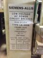 LA-600B Siemens-Allis 600A MO/DO LSIG Air Circuit Breaker W/AC-PRO